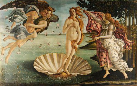 """Botticelli - """"La Nascita di Venere"""", 1482-85 ca. Galleria degli Uffizi (Firenze)"""