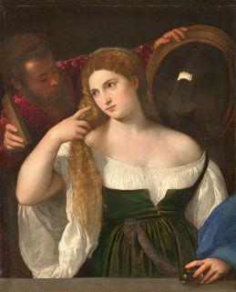 Tiziano - Ritratto di donna allo specchio (1512-1515 circa) Louvre, Parigi