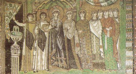"""""""Corte di Teodora"""" - metà del VI secolo, San Vitale (Ravenna)"""