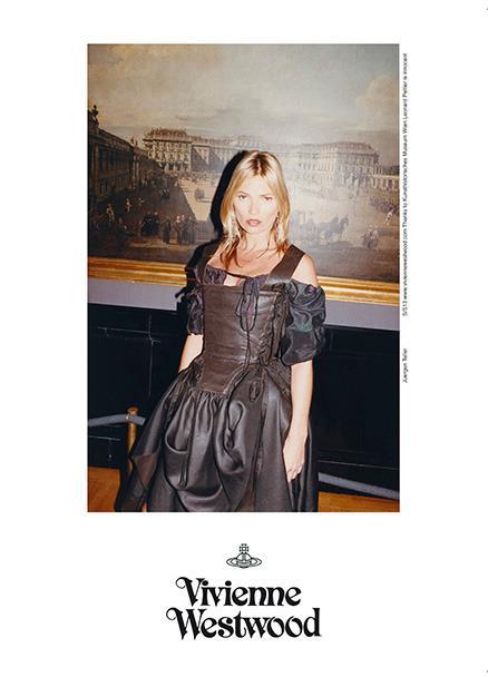 """Vivienne Westwood SS 13 campaign - Alle spalle di Kate Moss: """"Il castello di Schönbrunn"""" di Bernardo Bellotto, 1760"""
