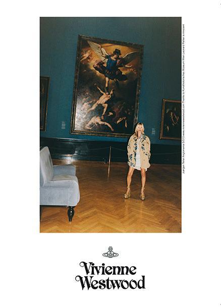 """Vivienne Westwood SS 13 campaign - Alle spalle di Kate Moss: """"San Michele sconfigge gli angeli ribelli"""" di Luca Giordano, 1666 circa"""