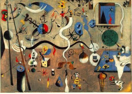 """Joan Mirò - """"Il carnevale di Arlecchino"""", 1924/25  Albright-Knox Art Gallery, Buffalo"""