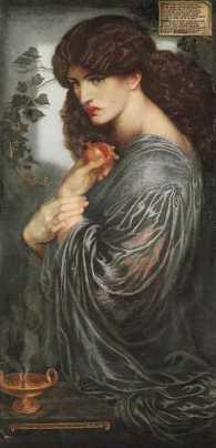 """Dante Gabriel Rossetti - """"Proserpina"""" (1874) Londra, Tate Britain"""