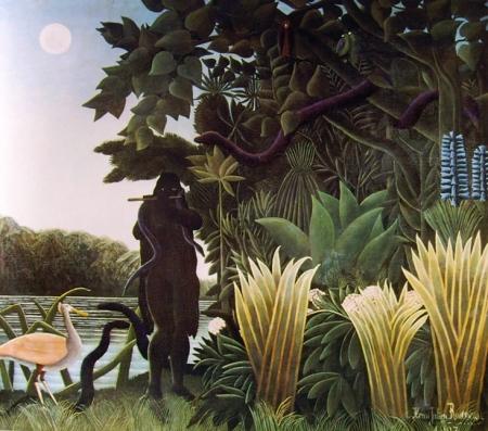 """Henri Rousseau - """"L'incantatrice di serpenti"""" (1907) Musée d'Orsay, Parigi."""