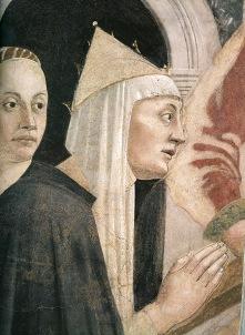 """L'Imperatrice Elena, Piero della Francesca - """"Storie della Vera Croce"""", Arezzo (1452-1466)"""