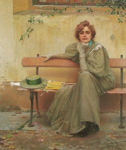 Vittorio Matteo Corcos - Sogni (1896) Galleria Nazionale d'Arte Moderna, Roma