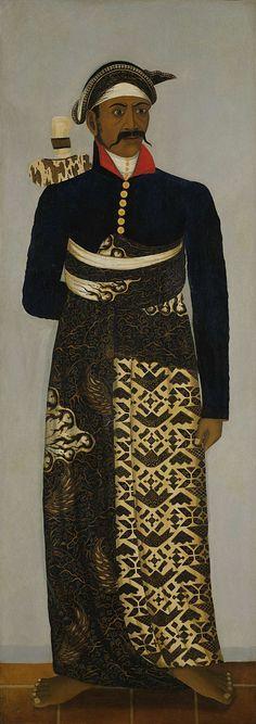 """Anonimo - """"Cinque ufficiali della corte javanese"""" (c. 1820-1870)"""